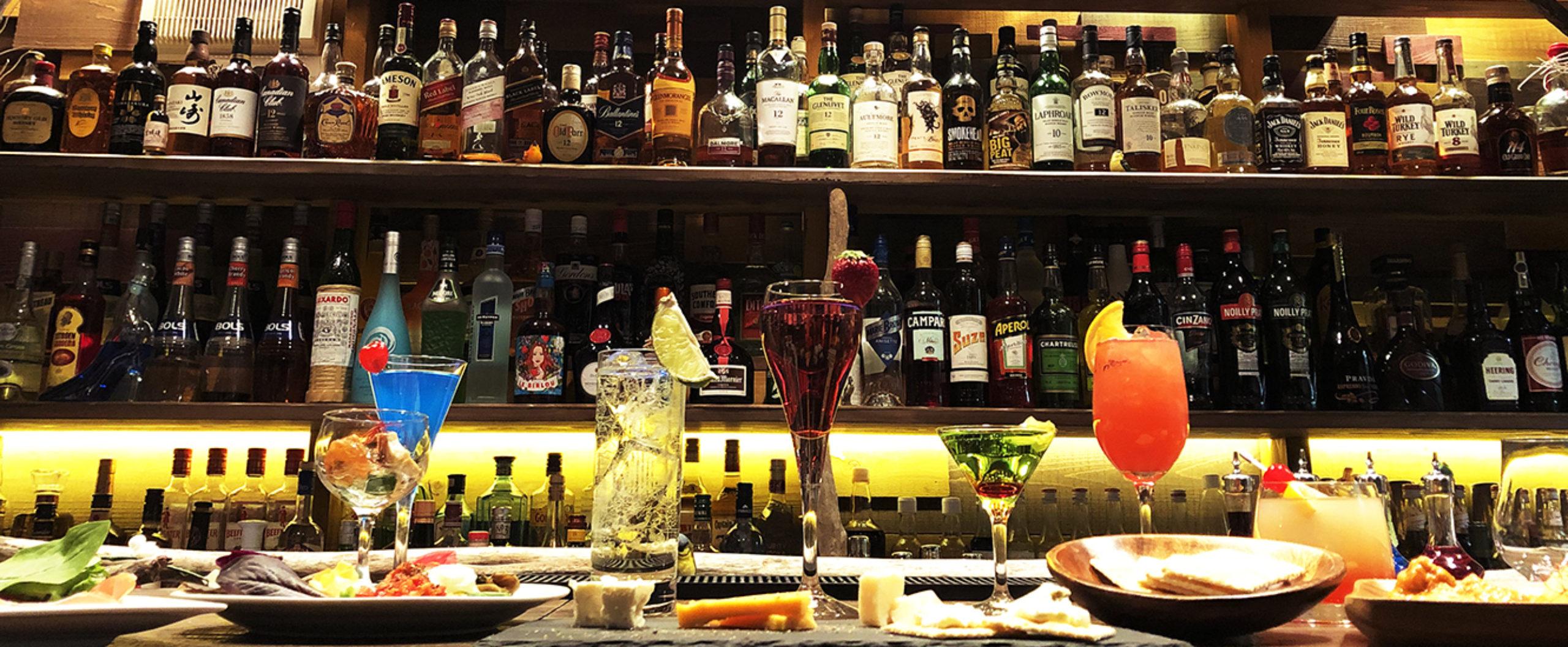 新潟県長岡市のバー ベイビーチャップリン.夜デートや二次会・女子会・歓送迎会にもおすすめ。イメージカクテル、ノンアルコールカクテルもご用意。バー初心者様大歓迎!